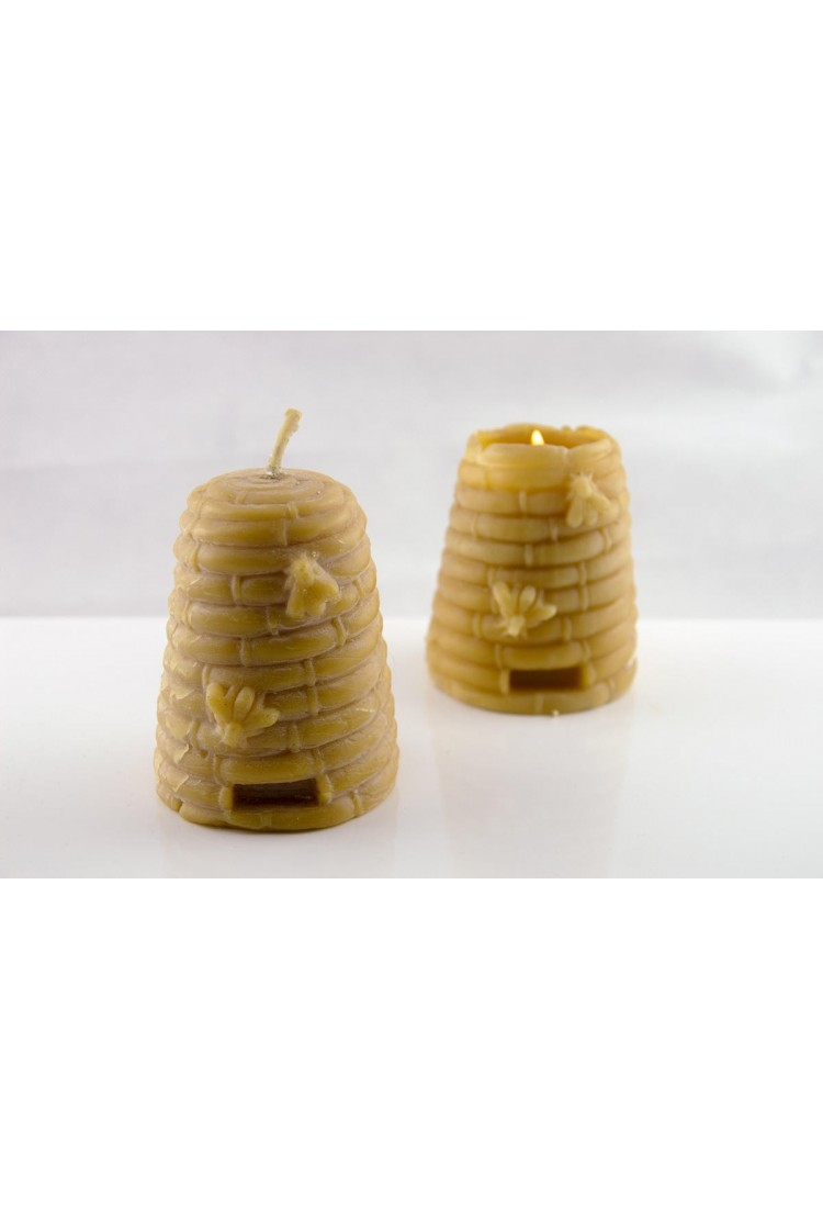 Bougie moulée ruche