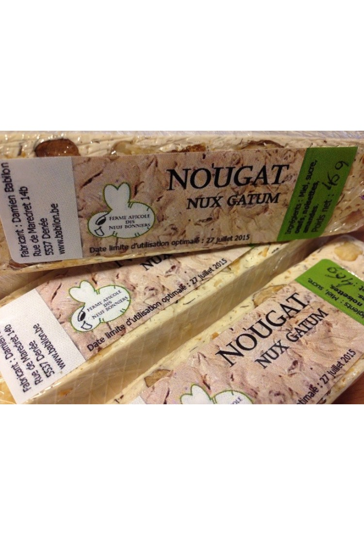 Nougat caramel d'Isigny par 100g.